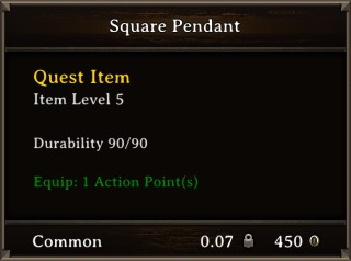 DOS Items Quest Square Pendant Stats