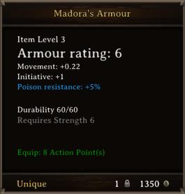 DOS Items Unique Madora's Armour