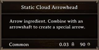 DOS Items CFT Static Cloud Arrowhead Stats