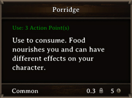 DOS Items FnD Porridge