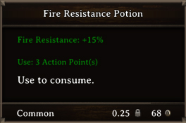DOS Items Pots Fire Resistance Potion