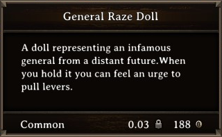 DOS Items Misc General Raze Doll Stats