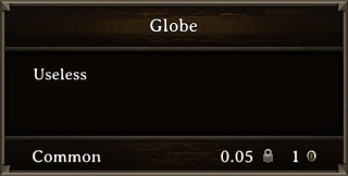 DOS Items Misc Globe Stats