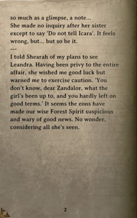 DOS Items Books Zandalor's Journal Page2