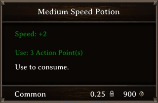DOS Items Pots Medium Speed Potion Stats