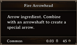 DOS Items CFT Fire Arrowhead