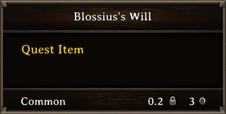 DOS Items Quest Blossius's Will Stats