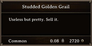 DOS Items Precious Studded Golden Grail Stats