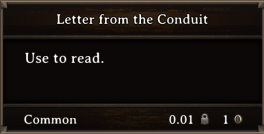 DOS Items Quest Letter from the Conduit