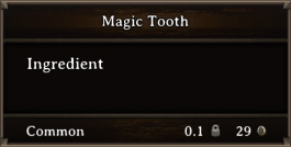 DOS Items CFT Magic Tooth Orc Horn