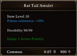 DOS Items CFTX 10.5 Rat Tail Amulet