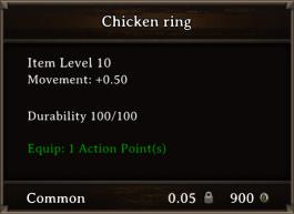 DOS Items CFTX 10.5 Chicken Ring