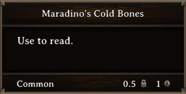 DOS Items Books Maradino's Cold Bones