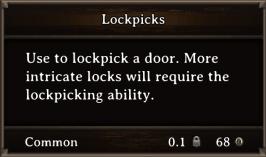 DOS Items Tools Lockpicks