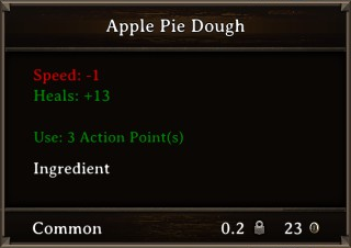 DOS Items Food Apple Pie Dough Stats