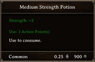 DOS Items Pots Medium Strength Potion Stats