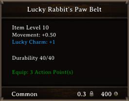 DOS Items CFTX 10.5 Lucky Rabbit's Paw Belt