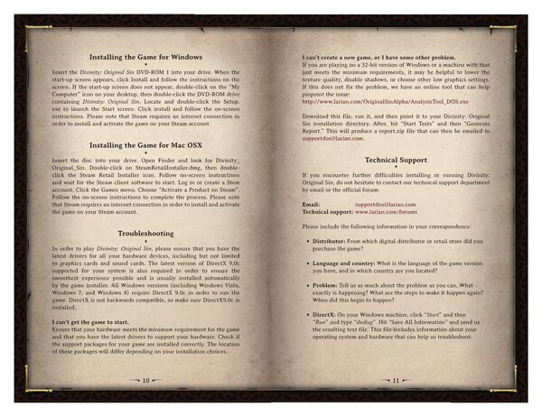 DOS Game Manual Page 6