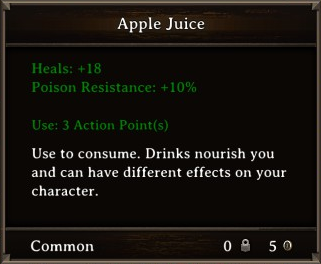 DOS Items Food Apple Juice Stats