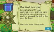 Badge gardening level 4 blue