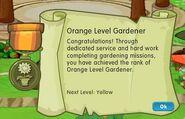 Badge gardening level 1 orange