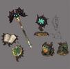 Green dragon sorceress weapon