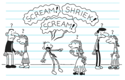 Greg screams Abigail