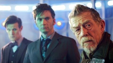 """DOCTOR WHO *Exclusive Extended* Inside Look In Awe of John Hurt in """"The Day of The Doctor"""""""