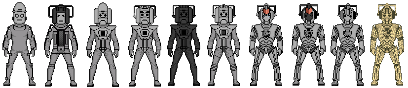 Evolution Of The Cybermen Image - Evolution of t...