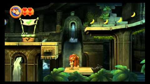 Donkey Kong Country Returns ~ World 3-4 (Damp Dungeon) Puzzle Piece K-O-N-G Letters Guide