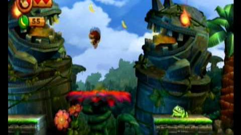 Donkey Kong Country Returns 100% Video Walkthrough 1-1 Jungle Hijinx