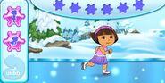 Dora-ice-skating-game