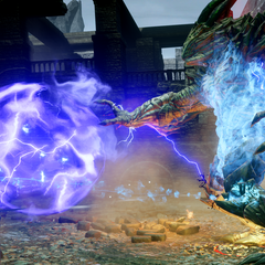 Pride Demon Electric Orb Attack as seen in <i>Dragon Age: Inquisition</i>