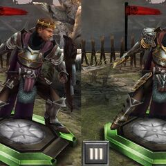 Tier progression of King Alistair in <i>Heroes of Dragon Age</i>