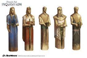 Inquisition Chantry sculptures concept