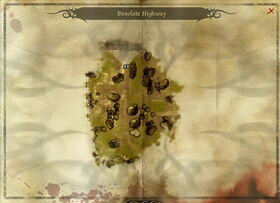 Map-Desolate Highway
