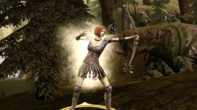 File:Leliana with bow.jpg