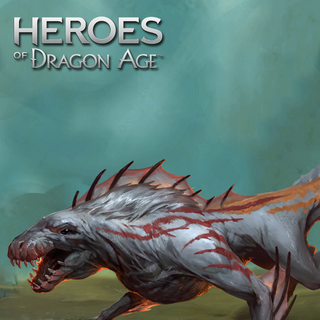 A Snowy Wyvern in Heroes of Dragon Age