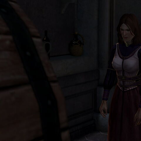 Flora drunk in the cellar