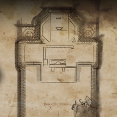 Map of the hidden ruin