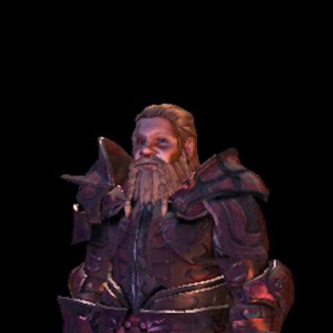 Dwarf in the Wade's Superior Dragonbone Plate armor set
