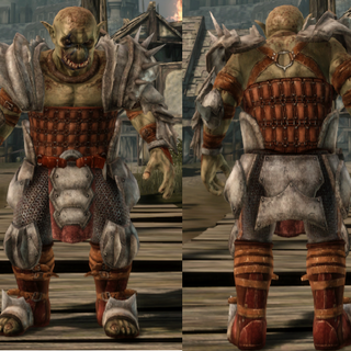 A set of Darkspawn Plate Armor for a Genlock