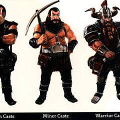 Smith/Artisan, Miner and Warrior caste dwarves