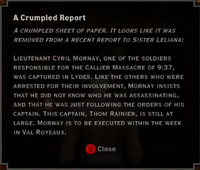 Revelations - A Crumpled Report