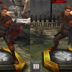Tier progression of Templar recruit Alistair in <i><a href=