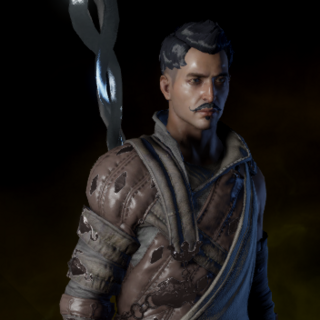 Dorian wearing a crafted Apprentice Coat