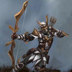 A Venatori Marksman as seen in Heroes of Dragon Age