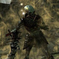 A <i>Dragon Age II</i> corpse