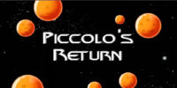 Piccolo's Return