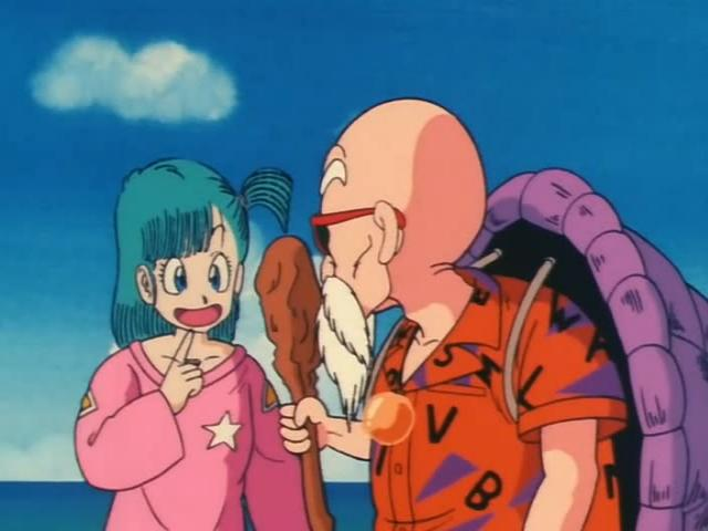File:Bulma asking roshi for a gift.jpg